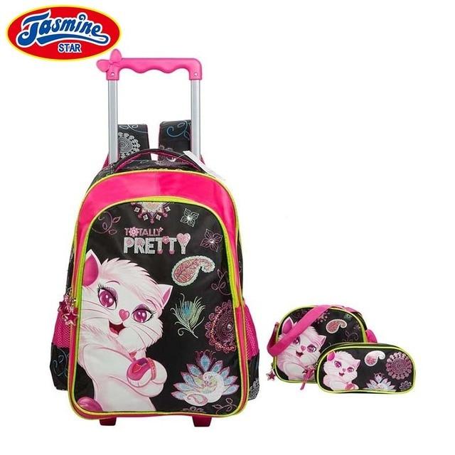 Jasminestar Children School Bags 3pcs Set Mochilas Kids Backpacks