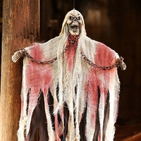 Halloween Prop Hanging Scary Ghost With Rags Hanging Halloween Escape Horror Props Decoration VQW0585