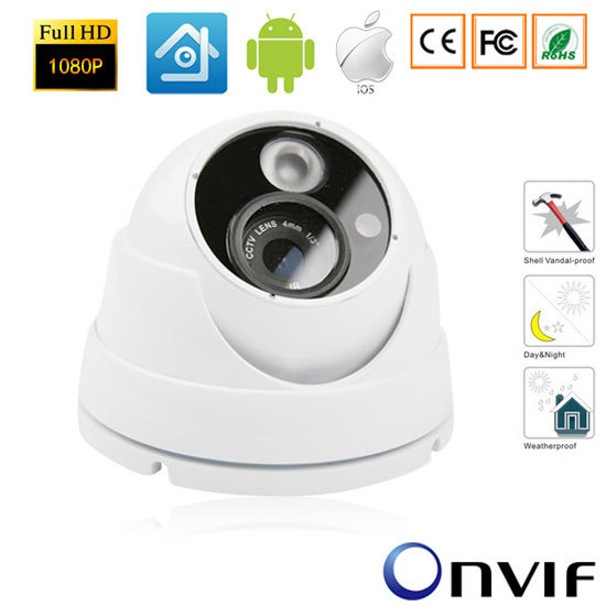 CCTV 1920*1080P 2.0MP IP Outdoor Network Camera  Vandalproof IR Camera  NightVision Plug and Play ONVIF SurveillanceCCTV 1920*1080P 2.0MP IP Outdoor Network Camera  Vandalproof IR Camera  NightVision Plug and Play ONVIF Surveillance