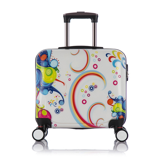Lovely Adults Kids Rolling Luggage Sets Spinner Hand Luggage Travel Trolley Suitcase Boarding Box Children's Suitcases