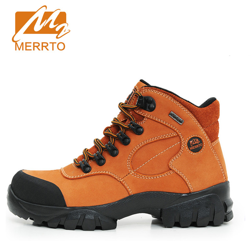 2017 Merrto Outdoor Women Hiking Boots Waterproof Camping Climbing Sport Shoes Full-grain leather For Female Free Shipping 18001
