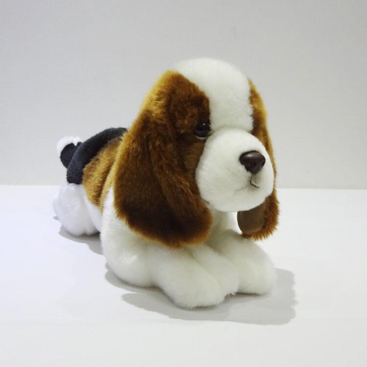 ФОТО Big Plush Toys  Pillow Doll children Gift Simulation Animal Simulation Basset Hound Puppy Toy Car