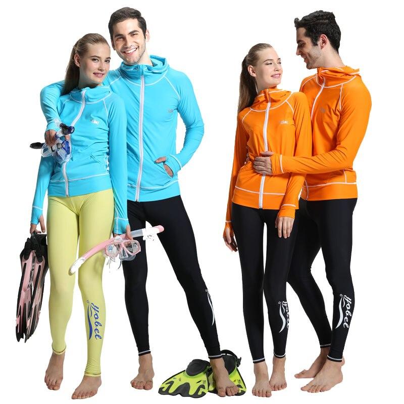 Outerwear Waterproof Swimwear Zipper Long-Sleeve Incubation Sunscreen Split Submersible-Lovers