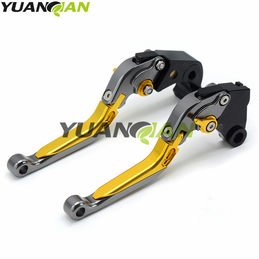 Motorcycle Adjustable Folding Extendable Extending Brake Clutch Levers fits FOR YAMAHA XJ6 DIVERSION 2009-2015 XSR 700 ABS 2016