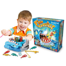 ФОТО rosiky sharks trap board desktop game fishing toys children funny fishing toy family toys trick fish novelty toys for kids