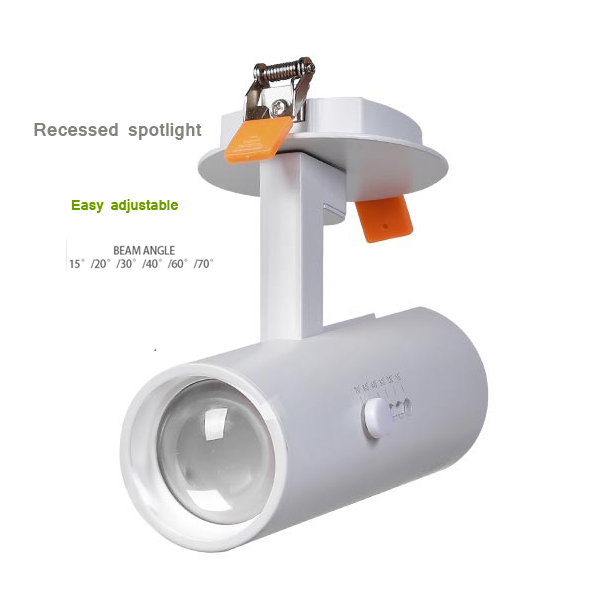 europa zoom in zoom out rotacao ajustavel 10 w 15 w 20 w mutavel varifocal recesso