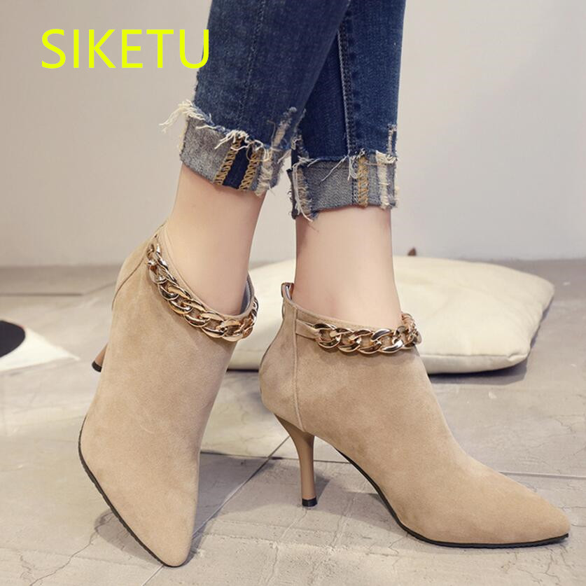 SIKETU Free shipping Autumn and winter plus cashmere high heels shoes women shoes Wedding pumps g036 Martin boots women boots siketu 2017 free shipping spring and autumn women shoes fashion sex high heels shoes red wedding shoes pumps g107