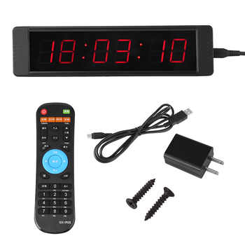 1 Set Training Clock LED Remote Wall Clock prescise Timer Stopwatch Remote Control Timer for Fitness Training - DISCOUNT ITEM  28 OFF Tools