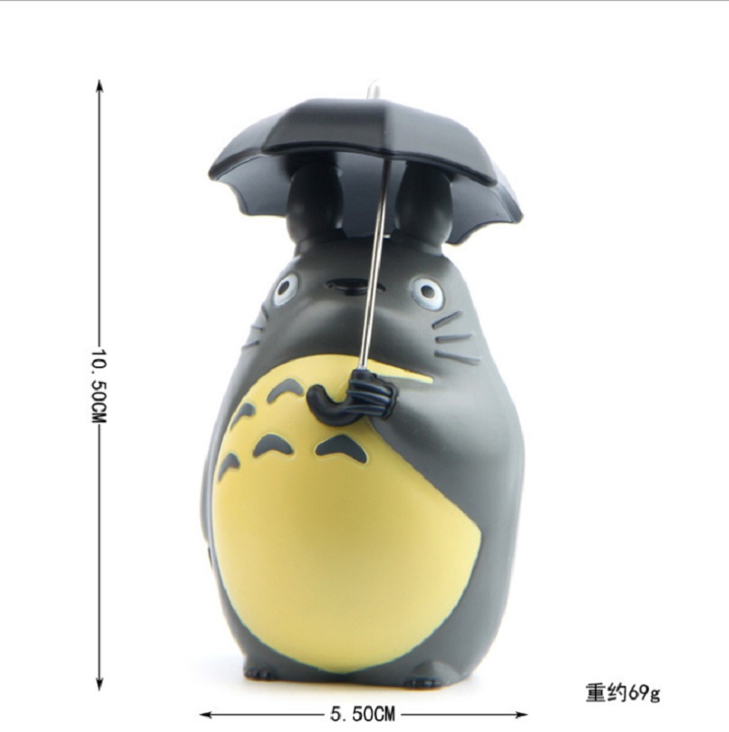 10CM Cool Figure My Neighbor Totoro Ghibli Hayao Miyazaki Anime Series Animal Figurine Model Collectible Gift juguetes 1set miyazaki hayao my neighbor anime totoro figure totoro mei fairy dust resin action figure toy gifts for garden home decor