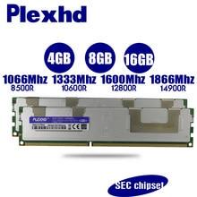 PLEXHD 16GB 8GB 4GB DDR3 PC3 1066Mhz 1333Mhz 1600Mhz 1866Mhz ECC REG memória Do Servidor X79 X58 2011 LGA2011 14900 12800 10600 RAM
