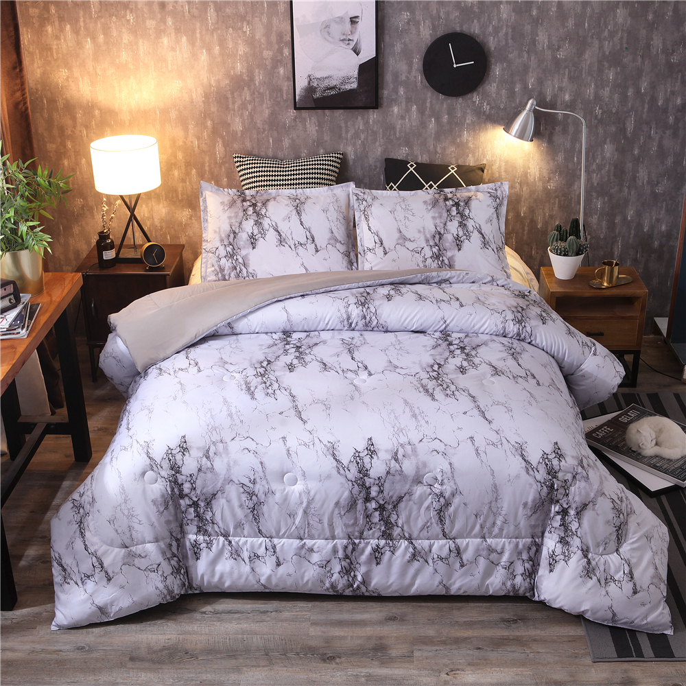 Queen Size Bedspreads On Sale.Us 67 2 20 Off 5 Colors Marble Printed Comforter Pillowcase Set Queen Size Quilt Bedding Set In Comforters Duvets From Home Garden On Aliexpress