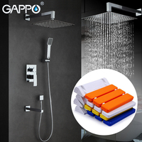 GAPPO Shower Faucets Bath Tap Mixers Rainfall Shower Set Wall Mounted Shower Seats Bathroom Relax Chair