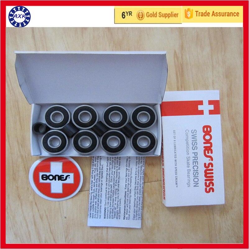 Free shipping AXK  bearing 608 2rs 8*22*7 mm  for skate board free shipping 608rs 608 2rs 608 bearing abec 9 8 22 7 mm 8x22x7 mm skateboard ball bearings emq z3v3 608 2rs 608rs bearing