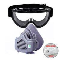 Новая Пылезащитная маска для лица защитные очки пыленепроницаемый респиратор для строителя плотника DIY Рабочая защитная защита 10 шт хлопко...