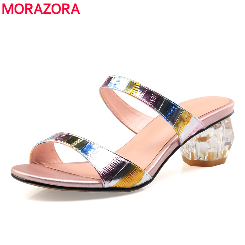 MORAZORA 2019 Large size 33 43 Hot sale women sandals genuine leather summer shoes high quality