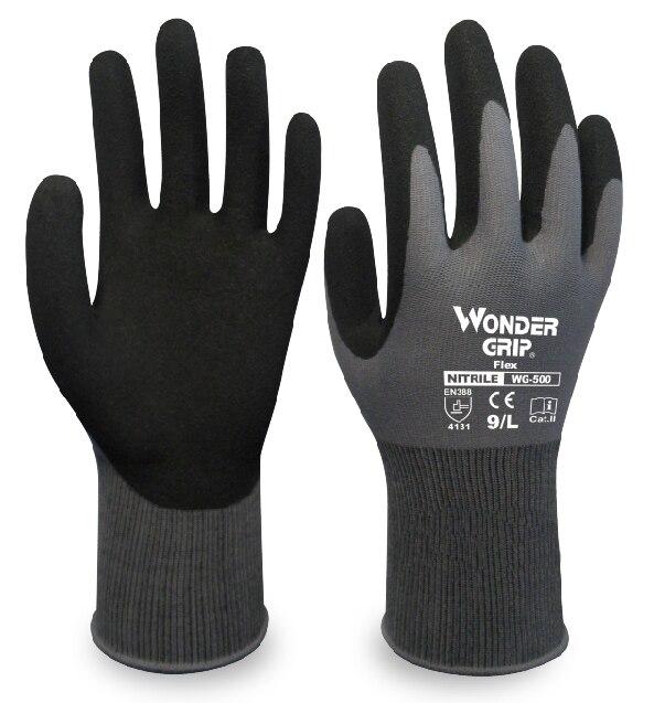 Small-Medium Men Women Safety WORK GLOVe Black Nitrile Coat Palm Garden New