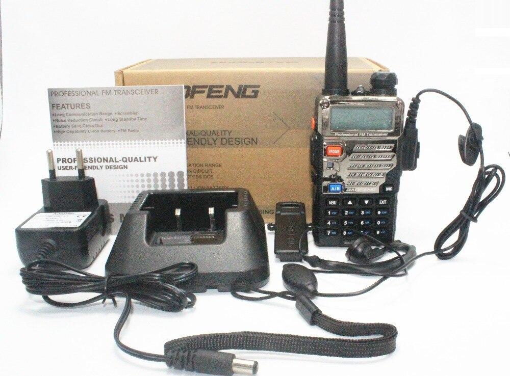 Купить с кэшбэком BaoFeng UV-5RE Plus Walkie Talkie CB VHF UHF Portable Ham Amateur Two Way Radio 5W Dual Band For Hunting Trucker