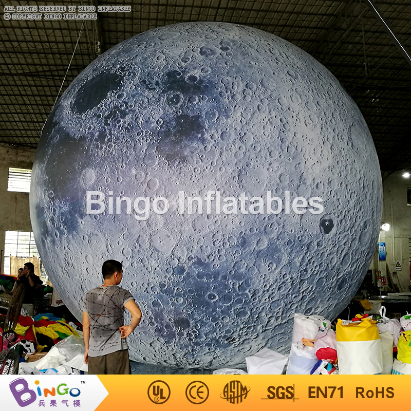 Giant 6M inflatable moon balloon hot sale decorations blow up ball type moon replica with digital printing toys 200 cm super large charm colorful inflatable beach ball outdoor play games balloon giant volleyball pvc pool