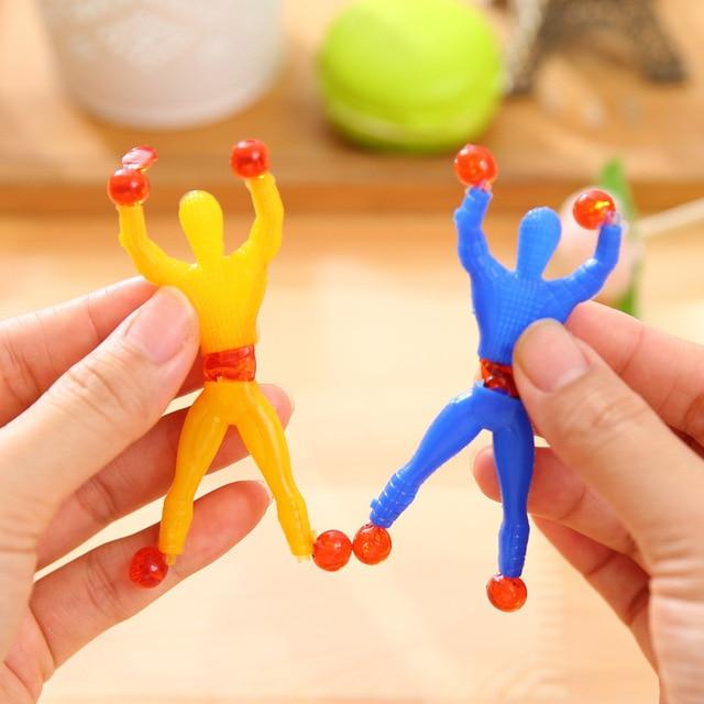 5 piezas novedad escalada juguete de Spiderman elástico elasticidad magia mortal Retro saltando elfo para chico adulto divertido bromas