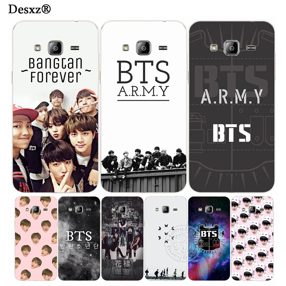 Desxz BTS Bangtan Army young forever cover phone case for Samsung Galaxy J1 J2 J3 J5 J7 MINI ACE 2016 2015