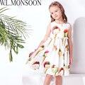 W. L. MONSOON Девушки Мороженое Платье Свадебные Платья 2017 Лето Марка Принцесса Костюмы Дети Платья для Девочек Одежда одеяние Fille Enfant