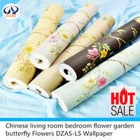 Chinese living room bedroom flower garden butterfly Flowers DZAS LS Wallpaper