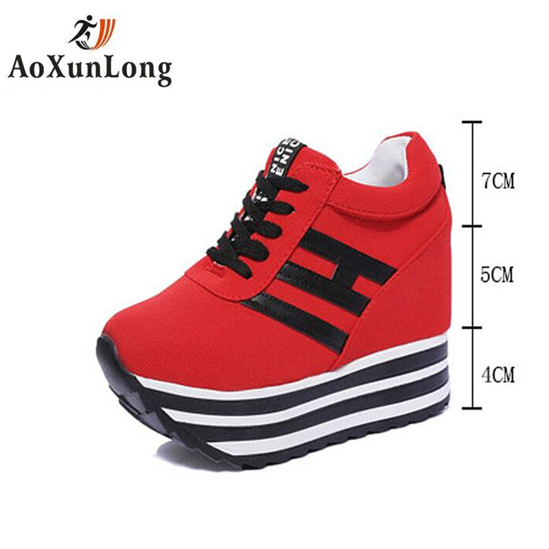 Ao Xun Long Summer Autumn Women Boots Breathable Fashion Height increase Wedges Slope Boots Woman 3