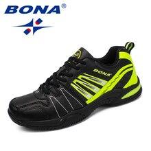 BONA/Новое поступление; классические стильные мужские теннисные туфли на шнуровке; Мужская Спортивная обувь; Уличная обувь для бега; удобные кроссовки; обувь