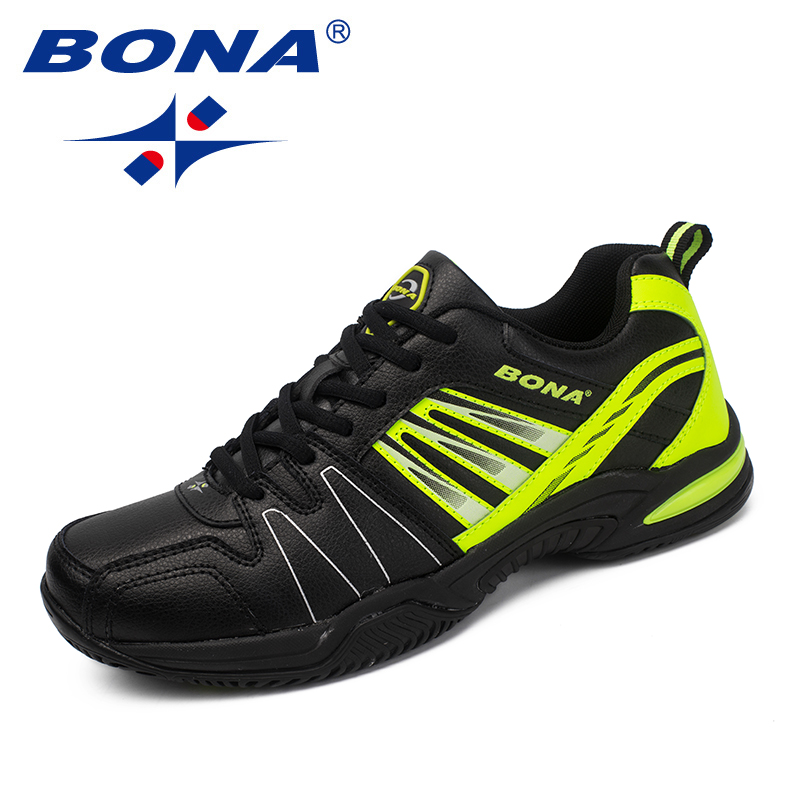 BONA New Arrival Classics Style Men Tennis Shoes Lace Up Men Athletic Shoes Outdoor Jogging Shoes Comfortable Sneakers Shoes colour block lace up splicing athletic shoes