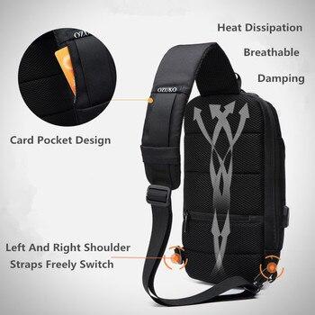OZUKO 2020 Nuovo Multifunzione Crossbody Bag per Gli Uomini Anti furto Sacchetti del Messaggero Della Spalla