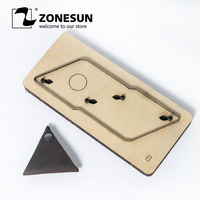 ZONESUN Customized Triangle Shape Leather Coin Holder Change Purse Minimalist Wallet Cutting Mold Die Cutter Animal Japanese Ste