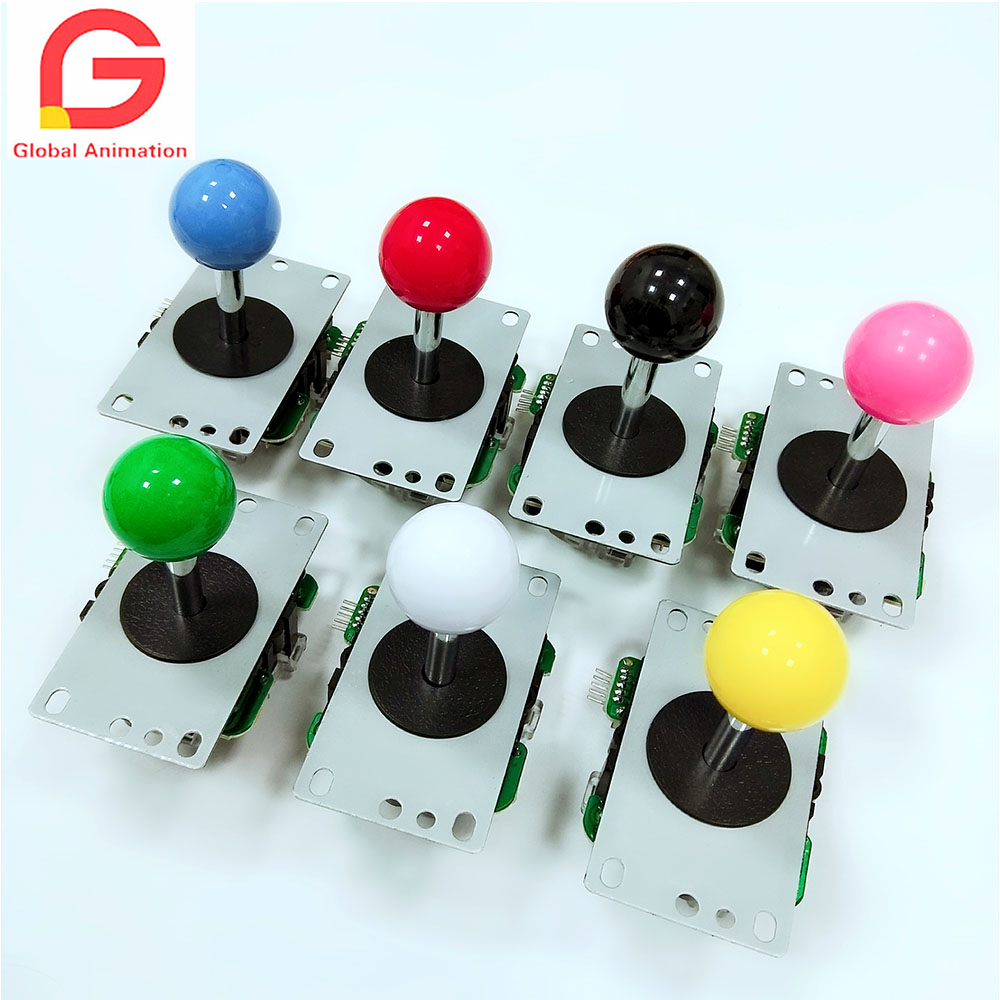 2 PCS High Quality Copy Sanwa Joystick With 5 Pin Round Restrictor Gate For Game Machine Multi Color Red Yellow Green Blue