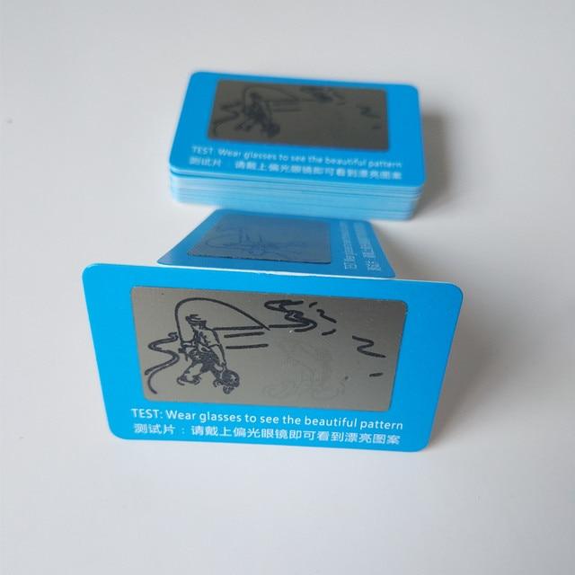 500 pcs Lente Polarizada Cartão de Teste Cartão de Teste para Teste de Polarização  óculos de d529836584
