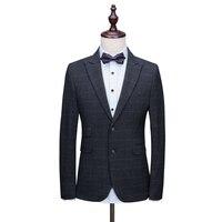 OSCN7 заостренный лацкан клетчатый портной костюм для мужчин из 3 предметов джентльмен деловой Свадебный индивидуальный мужской костюм Блейз...