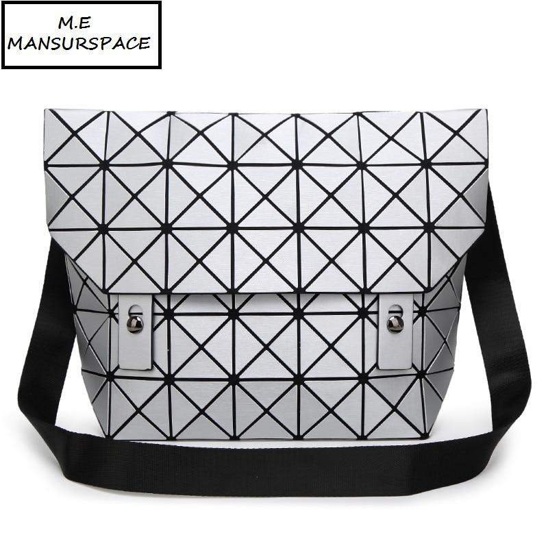 все цены на MANSURSPACE women Handbag bao Bag Female Folded Geometric Plaid Bag Fashion Casual Tote Women Handbag Mochila Shoulder Bag