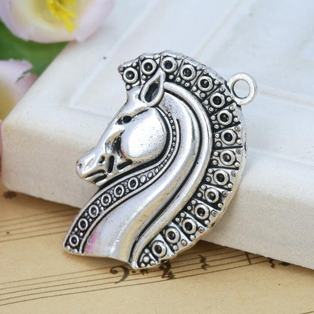 Wholesale charms 5pcs antique silver alloy horse head horse charm wholesale charms 5pcs antique silver alloy horse head horse charm pendant diy new fashion jewelry fitting aloadofball Gallery