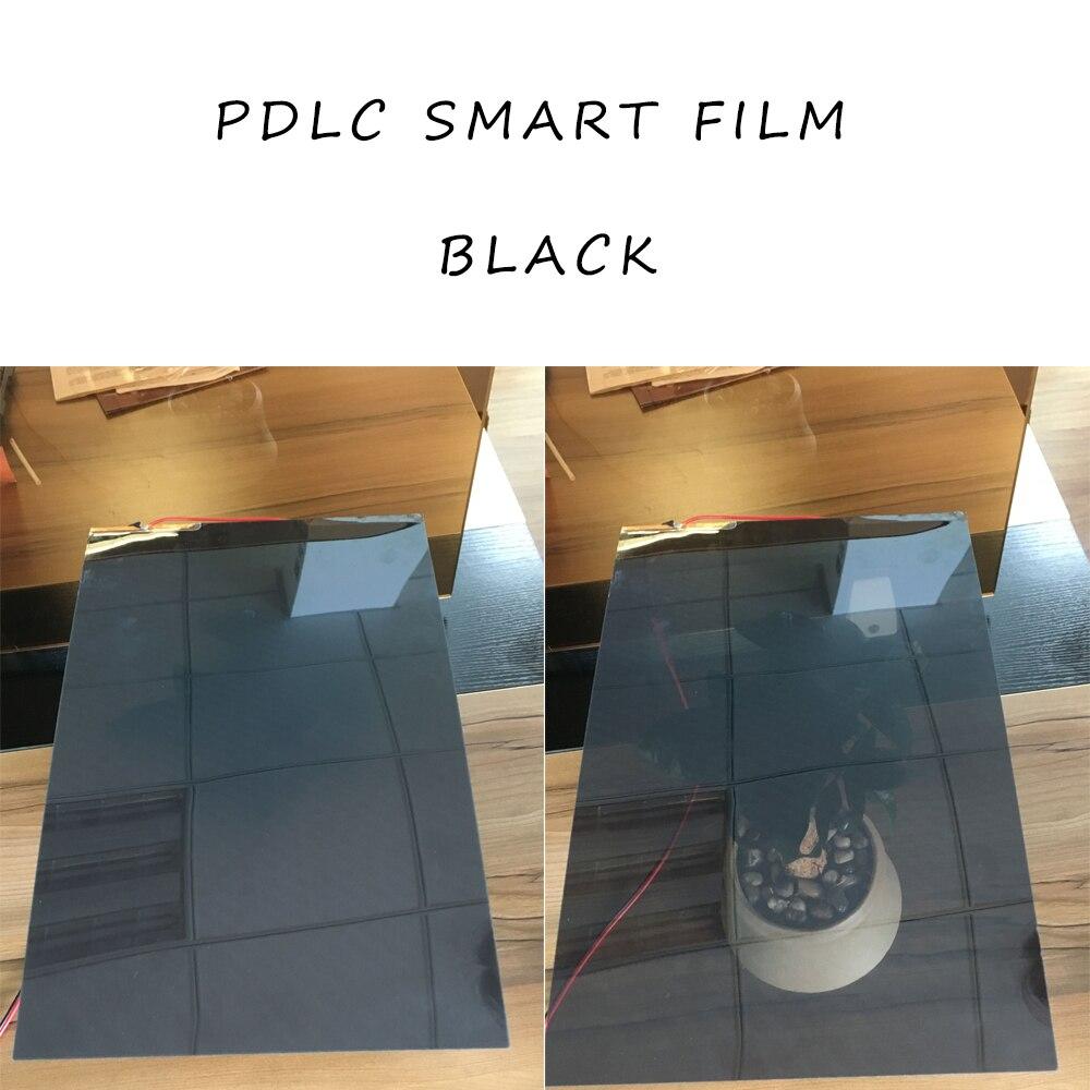 2 pcs 494*1020mm Noir Intelligent Commutable Verre Film PDLC Film Teinte À Puce