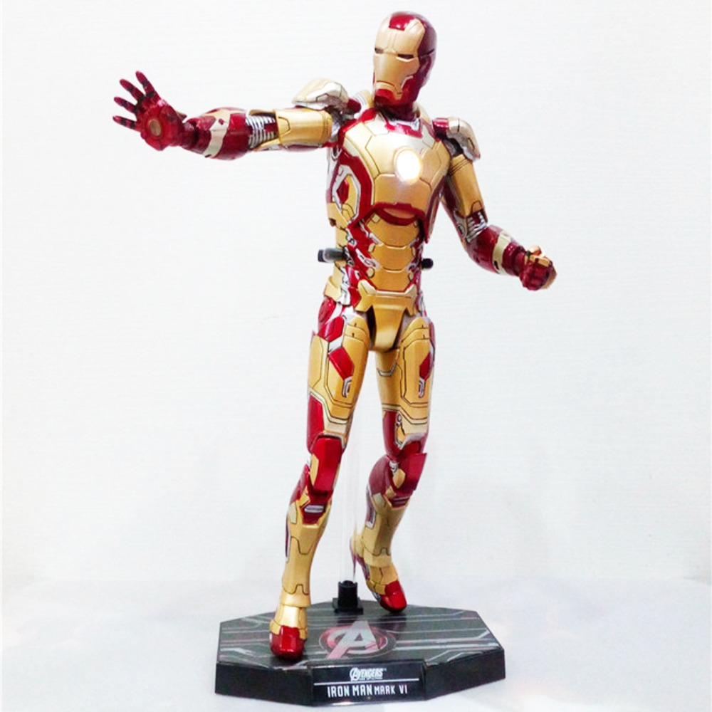 Tony Stark 3 Mark XLII MK42 1/6 Scale Action Figure MMS197-D02 Free Shipping 1 6th scale figure accessory iron man headsculpt tony stark head shape for 12 action figure doll not included body and clothes
