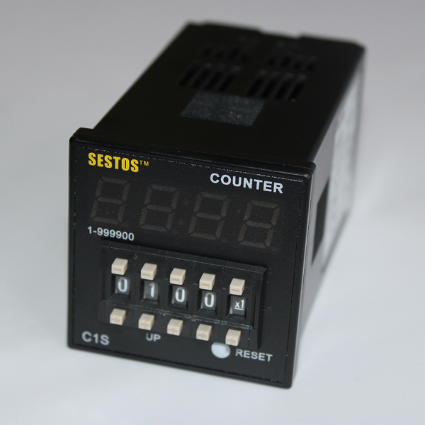 Sestos Coded Switch Digital Counter Industrial Register Omron Relay 100-240V C1S ac380v panel mount 8p 1 999900 count range digital counter relay dh48j dpdt