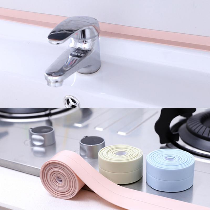 Kitchen Bathroom Gap Seal Corner Lining Anti-collision Adhesive Tape Moisture Mildew Proofing Line Sticking Strip