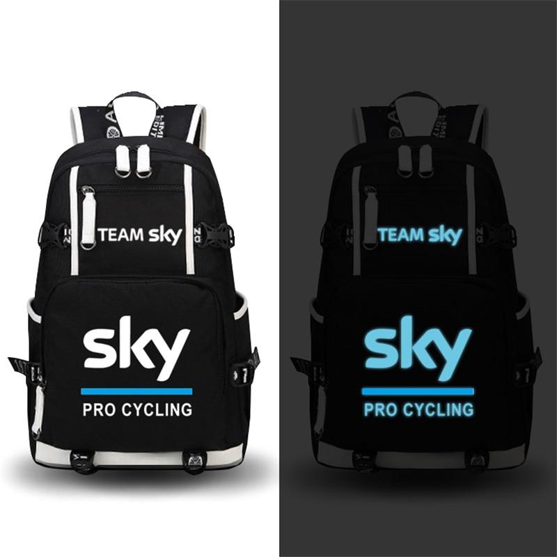 Haute qualité équipe Sky Pro Cycle lumineux impression sac à dos militaire sac à dos grande capacité voyage sacs toile sacs d'école