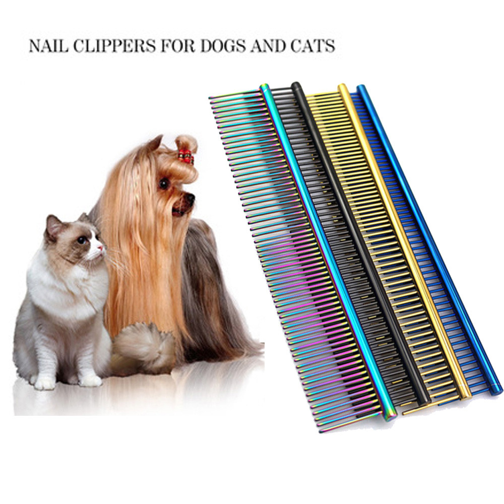 Hot Sales High Quality! Comb Long Hair Shedding Grooming Flea Comb Pet Puppy Dog Cat Stainless Steel Comb