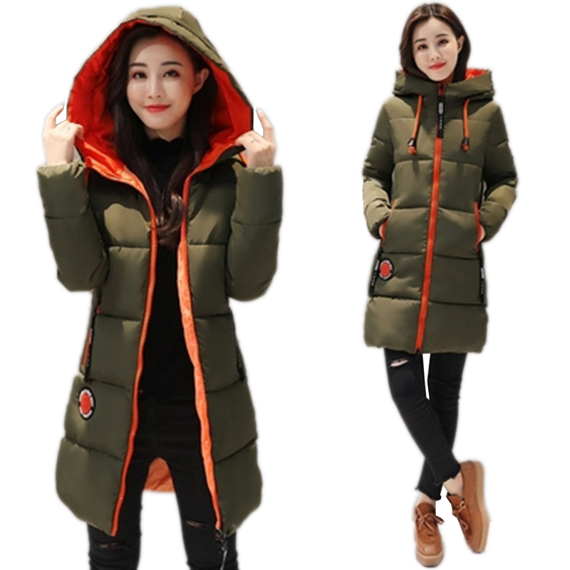 2019 New Winter Jacket Female Parka   Coat   Feminina Long   Down   Jacket Plus Size Long Hooded Duck   Down     Coat   Jacket Women Feme Green