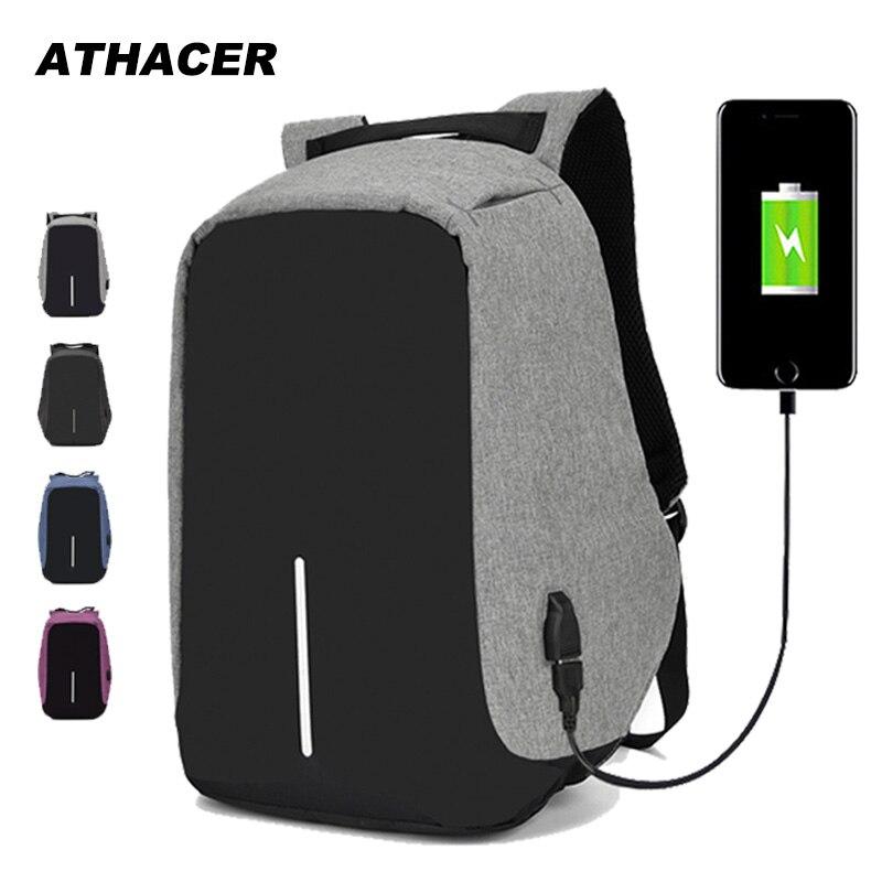 15.6 polegada portátil mochila de carregamento usb anti roubo mochila de viagem dos homens à prova dwaterproof água saco escolar masculino
