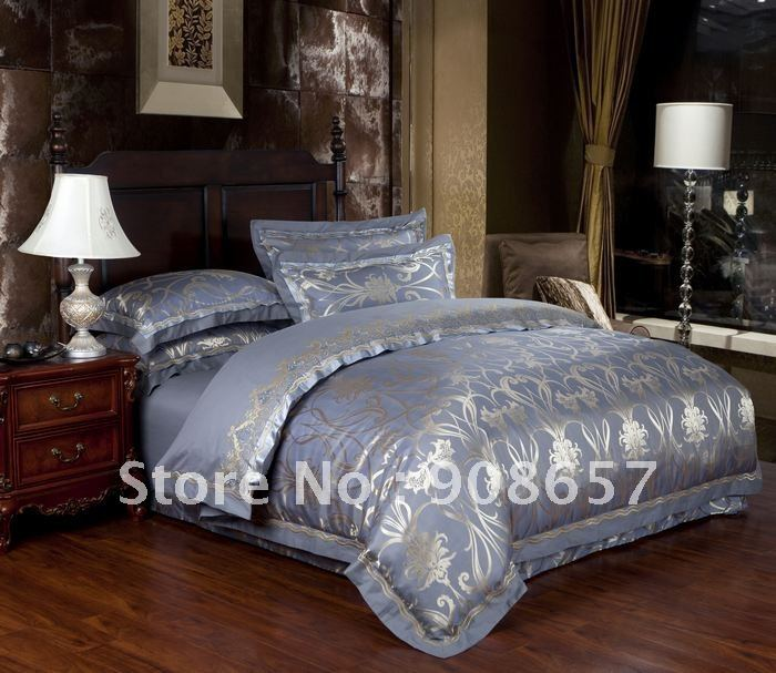 Gray Camel Special Europe Printing Bedding Satin Cotton Fabric