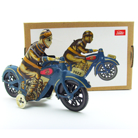 New Wind Up Man Riding Motorcycle Clockwork Metal Tin Toys Collectible Wind Up Toys For Child