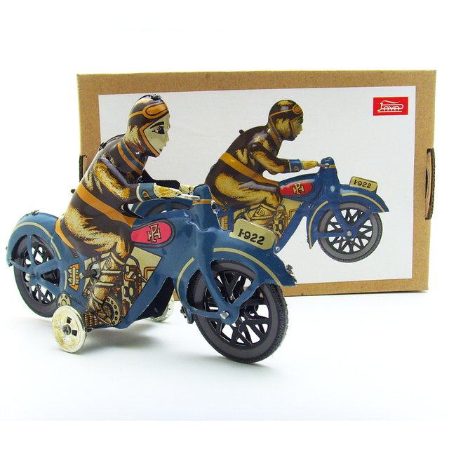 New Wind Up Man Riding Motorcycle Clockwork Metal Tin Toys Collectible Wind Up Toys for Child Funny Adult Kids Toy Birthday Gift