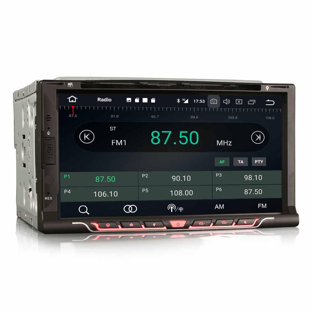 """6.95 """"Android 9.0 OS Double Din Mobil DVD Multimedia 2 DIN Mobil GPS Navigasi 2 DIN Mobil Radio dengan DAB + Kotak Penerima Dukungan"""