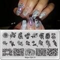 Главный Dijit штамповочная пластина для ногтей фотопластина сетчатый дизайн прямоугольный маникюрный штамп шаблон