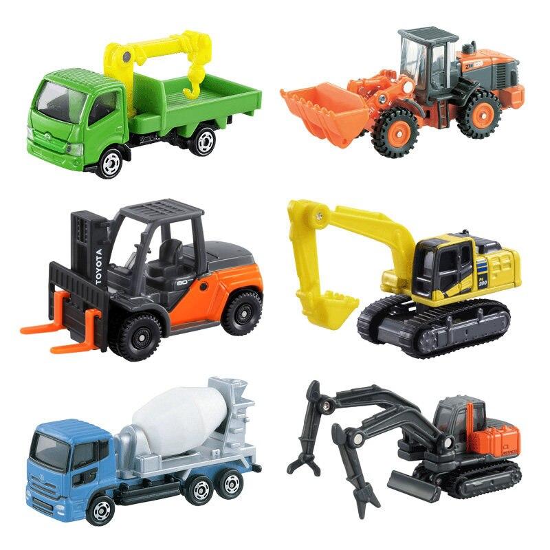 US $6 98 |Geniune Tomica Metal Diecast Vehicles Toy Cars Engineering Types  Excavator/Folklift/Loder/Dump Trucks By Takara Tomy-in Diecasts & Toy